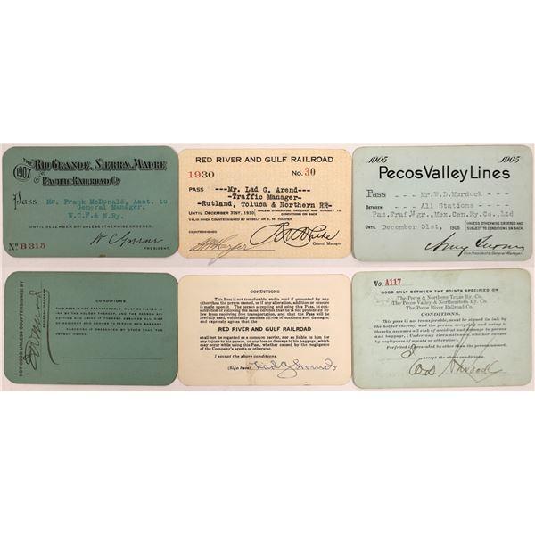 Railroad Passes, Texas Group - 3  [140219]
