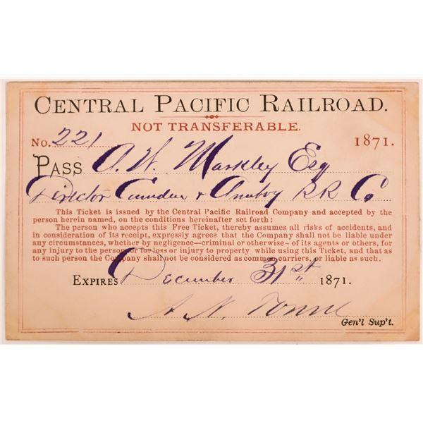 Central Pacific Railroad Pass  [139831]