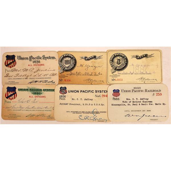 Railroad Passes, Union Pacific - 6  [140221]