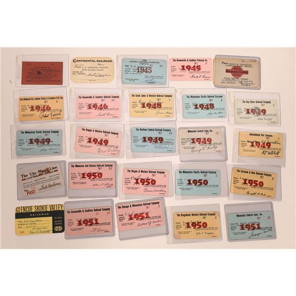 Great Lakes Area Railroad Pass Collection  [141128]