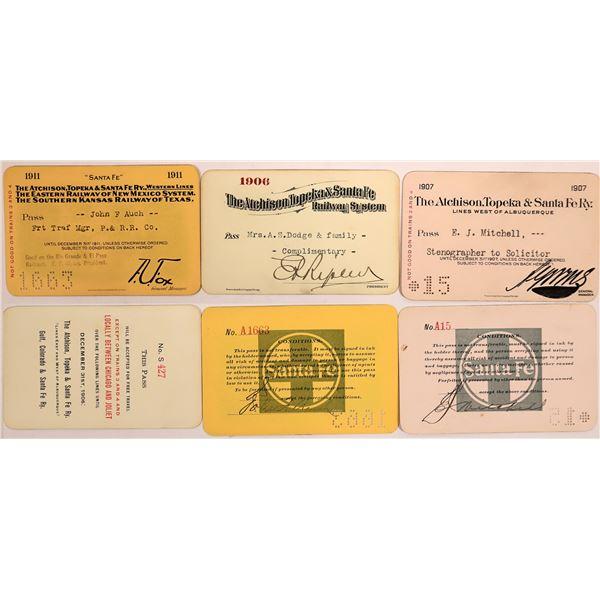 Railroad Passes, Atchison, Topeka & Santa Fe RY - 3  [140404]
