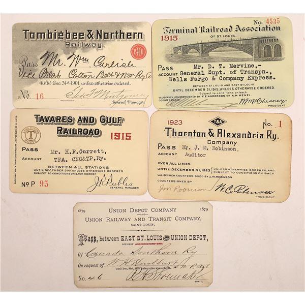 Railroad Passes, T-U Group - 4  [138596]