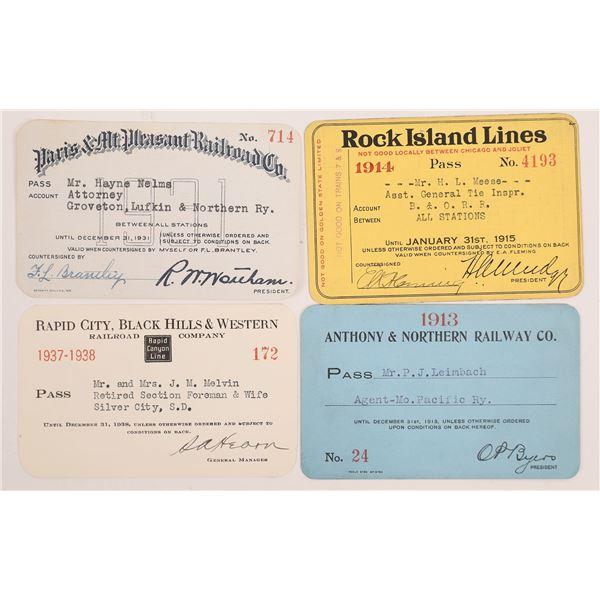 Railroad Passes, Various - 4  [138598]