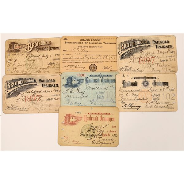 Railroad Trainmen Membership Cards  [139147]