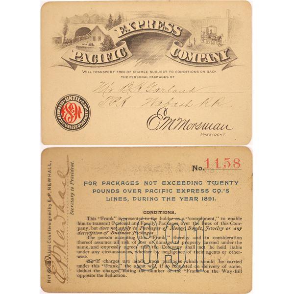 1891 Pacific Express Company Pass  [130500]