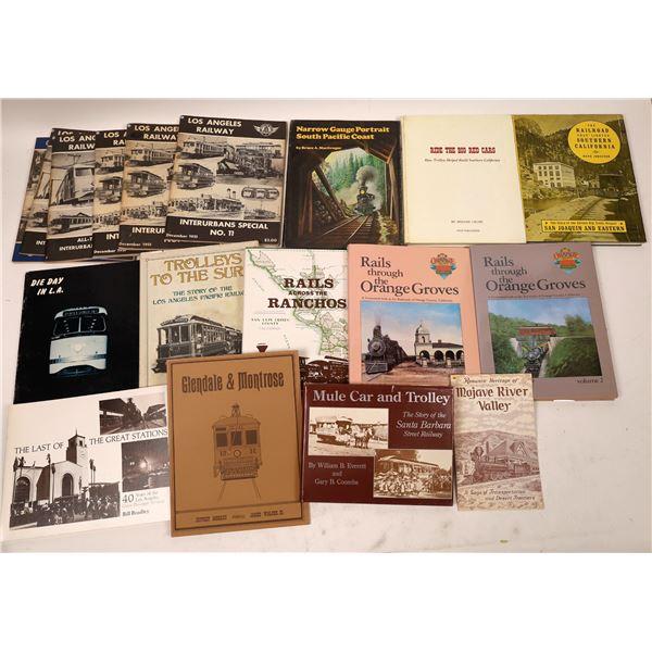 Los Angeles Railroad & Trolley Books (18)  [131659]