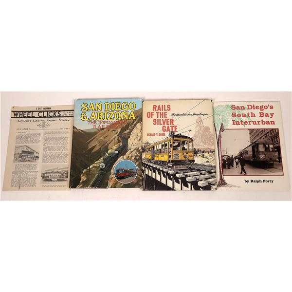 San Diego Rail Books (4)  [129764]