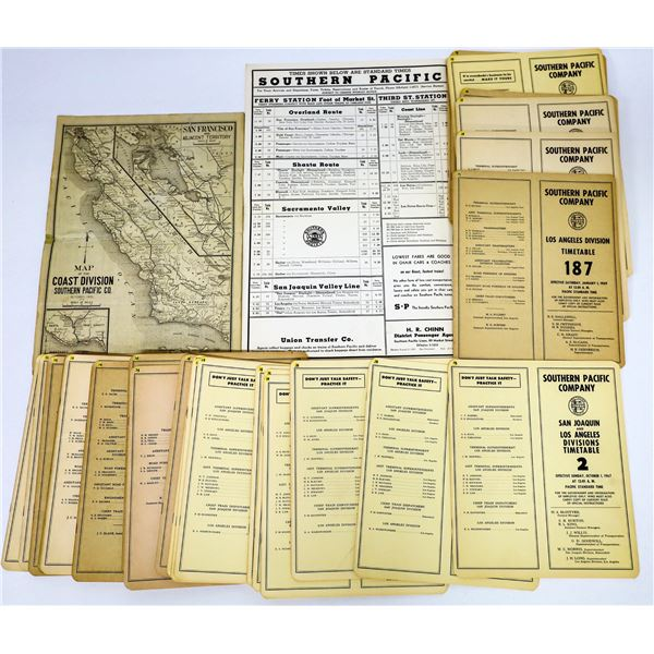 Southern Pacific Railroad Timetables (30)  [131656]
