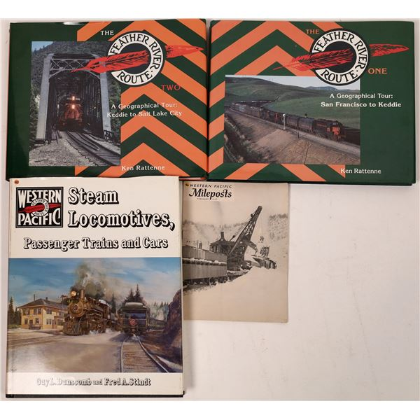 Western Pacific RR Books (4)  [128126]