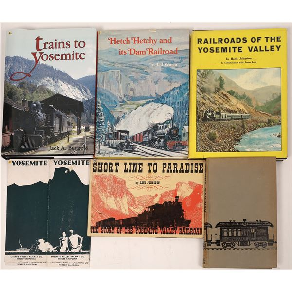 Sierra & Yosemite Area Railroad Books (6)  [128127]