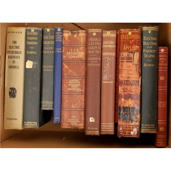 Box of Electric & Railway Text Books (15)  [129776]
