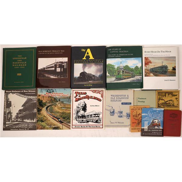 South & Mid Atlantic Railroad Books (14)  [128123]