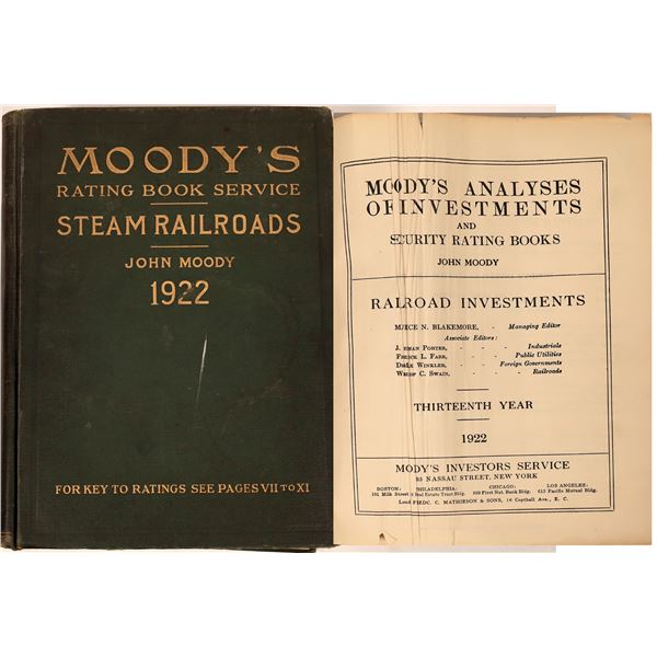 Moody's Rating Book-Steam Railroads of 1922  [127625]