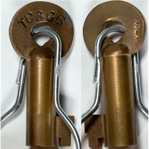 Railroad Lock Key (1) from Tucson Cornelia & Gila Bend RR  [138239]