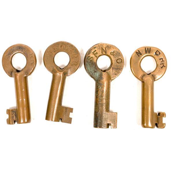 Railroad Lock Keys (4), CA - Napa Area RR Lines  [138706]