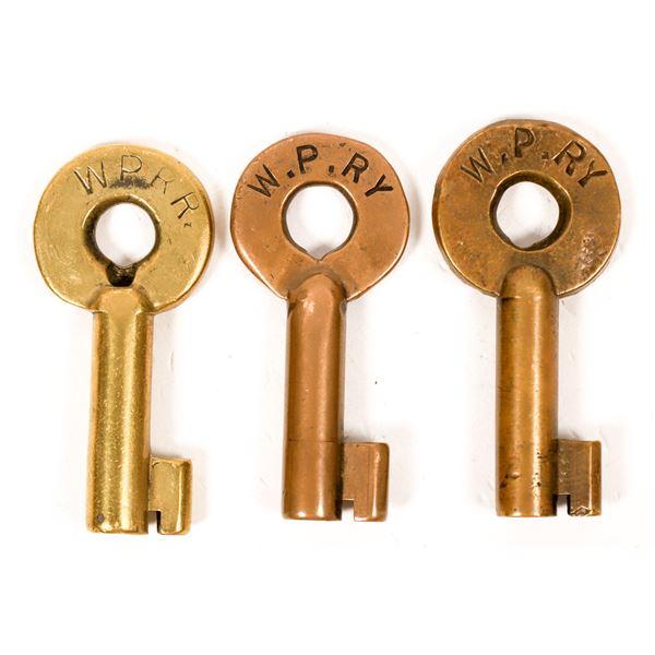 Railroad Lock Keys (3), CA - West Pacific - Portola RR Lines  [138701]