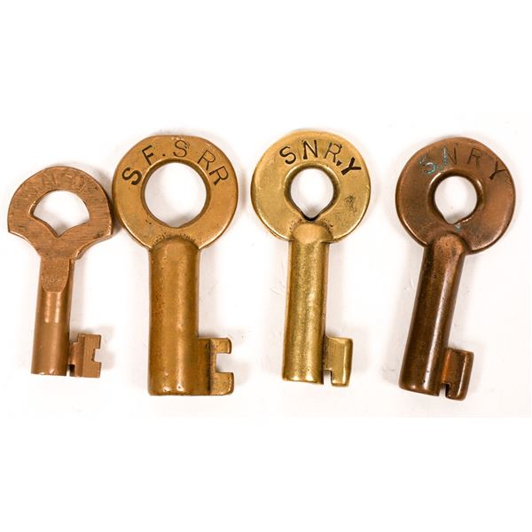 Railroad Lock Keys (4), CA - Sacramento RR Lines  [138699]