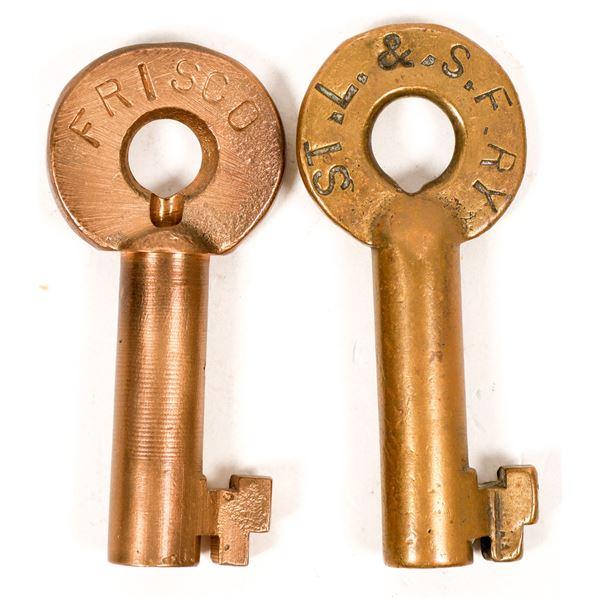 Railroad Lock Keys (2), St Louis - San Francisco RR Lines  [138700]