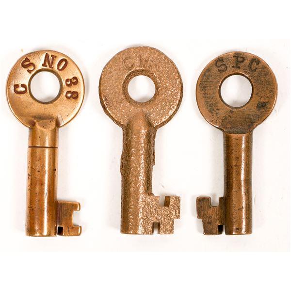Railroad Lock Keys (3), California - General RR Lines  [138702]
