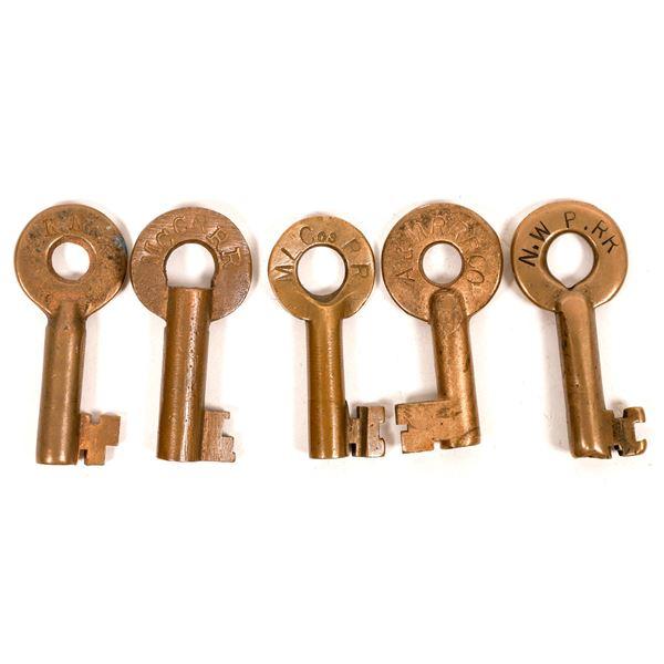 Railroad Lock Keys (5), CA - Far North RR Lines  [138708]