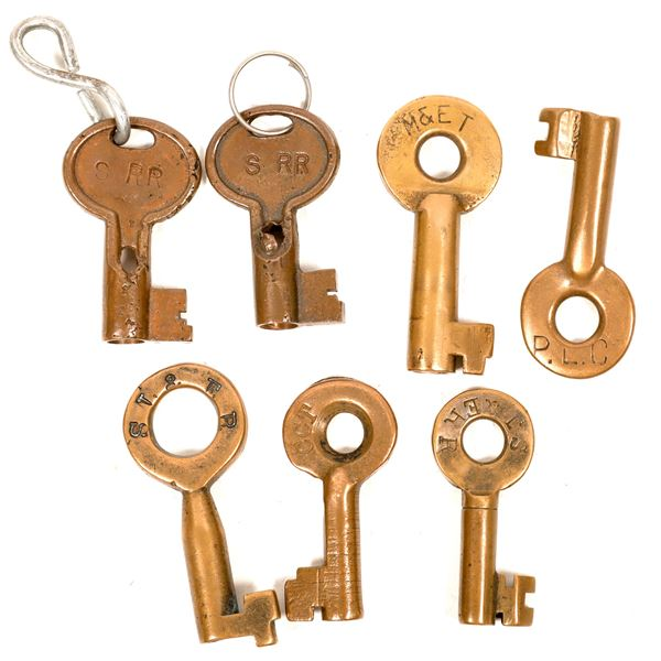 Railroad Lock Keys (7), CA - Central RR Lines  [138704]