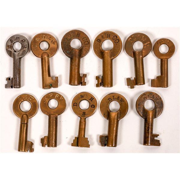 Railroad Lock Keys (11), Delaware & Rhode Island RR Lines  [138652]