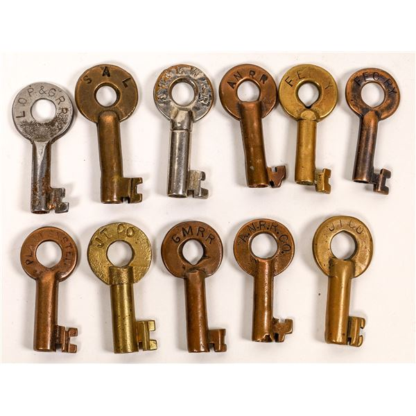 Railroad Lock Keys (11), various Florida RR Lines  [138654]