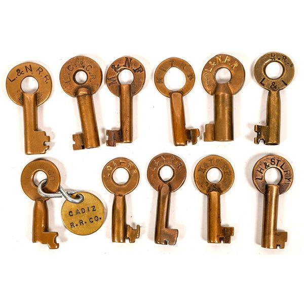 Railroad Lock Keys (11), multiple Kentucky RR Lines  [138642]