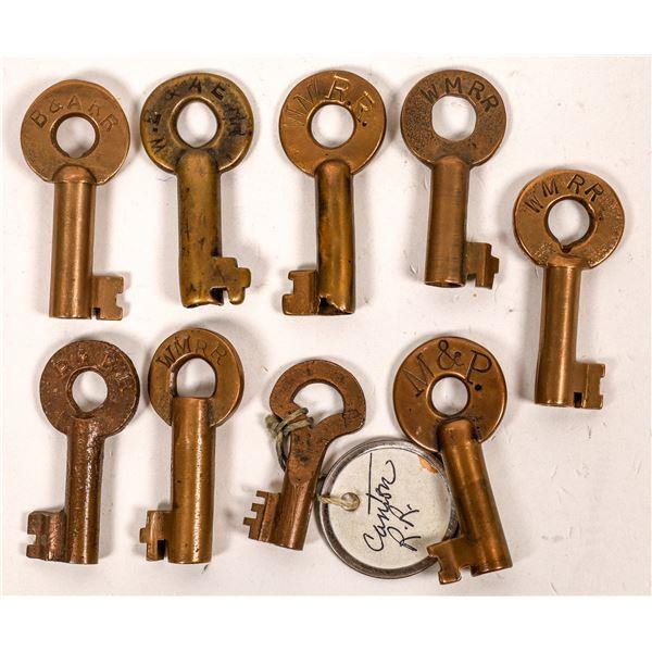 Railroad Lock Keys (9), multiple Maryland RR Lines  [138645]