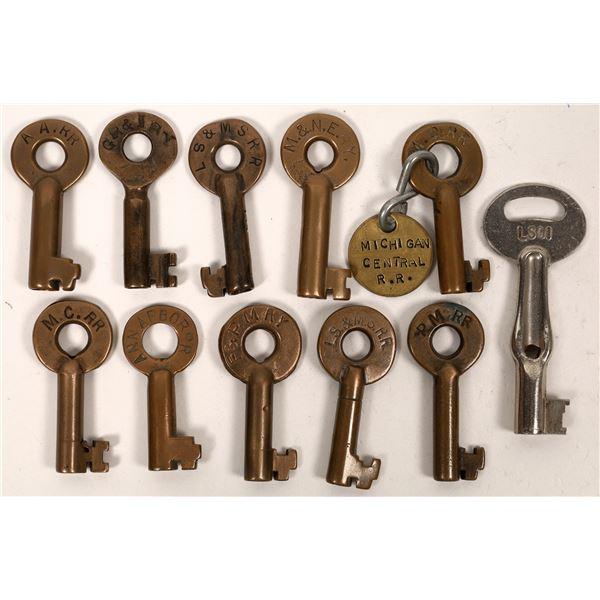 Railroad Lock Keys (11), Great Lakes - Michigan RR Lines  [138696]