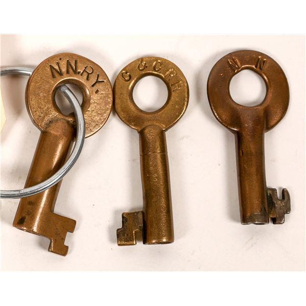 Railroad Lock Keys (3), different Nevada RR Lines  [138602]