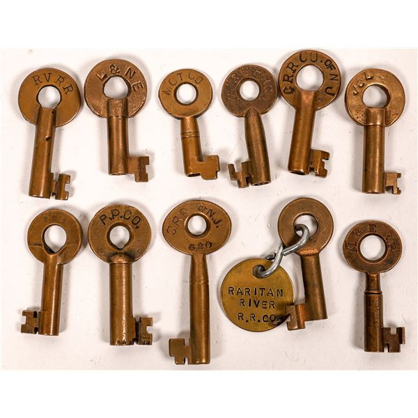 Railroad Lock Keys (11), various New Jersey RR Lines  [138672]