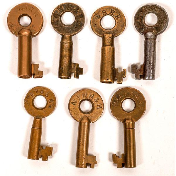 Railroad Lock Keys (7), miscellaneous New York RR Lines  [138608]