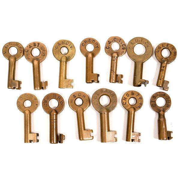 Railroad Lock Keys (13), Ohio - Cincinnati RR Lines  [138676]