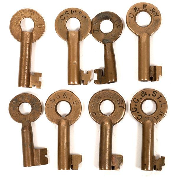 Railroad Lock Keys (8), Ohio - Cleveland RR Lines  [138678]