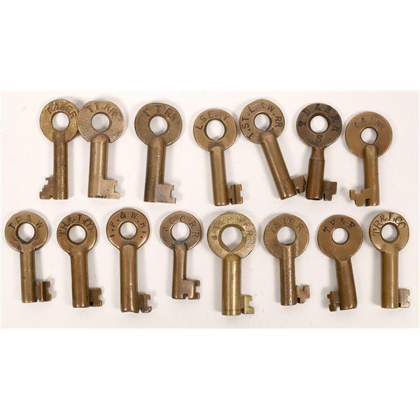 Railroad Lock Keys (15), Ohio - Toledo RR Lines  [138681]
