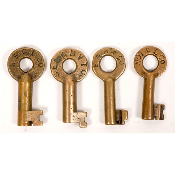 Railroad Lock Keys (4), Ohio - Traction RR Lines  [138679]