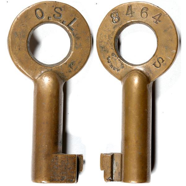 Railroad Lock Key (1) from Oregon Short Line  [139890]