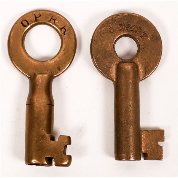 Railroad Lock Keys (2) from Oregon Pacific Lines  [138253]