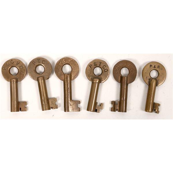 Railroad Lock Keys (6), Pennsylvania - Philadelphia RR Lines  [138684]