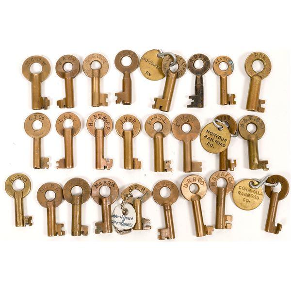 Railroad Lock Keys (25), Pennsylvania - Other RR Lines  [138682]