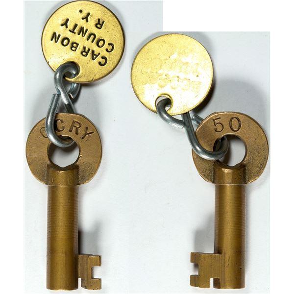 Railroad Lock Key (1) from Carbon County RY (UT)  [138236]