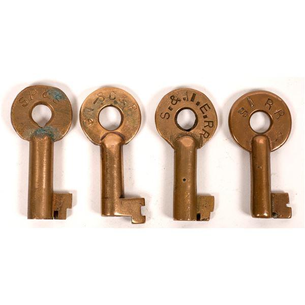 Railroad Lock Keys (4), different WA - Spokane RR Lines  [138266]
