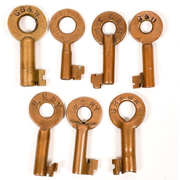 Railroad Lock Keys (7), Great Lakes - Wisconsin RR Lines  [138697]