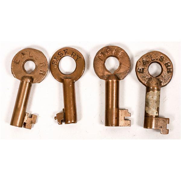 Railroad Lock Keys (4), Great Lakes - Superior RR Lines  [138693]