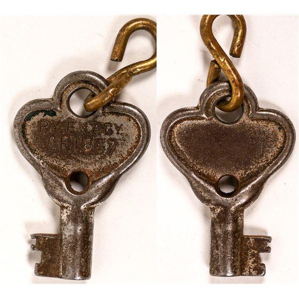 Railroad Lock Key (1) from Railway Express Agency  [138233]