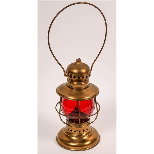 Adams & Westlake Railroad Conductor's Lantern, Brass w/Red Globe  [138359]