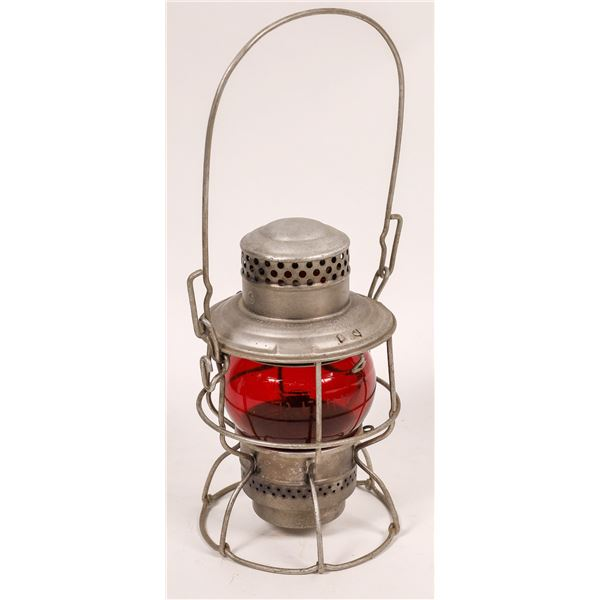 Adlake Conductor's Lantern from Pacific Electric Railway, Red Globe  [138574]