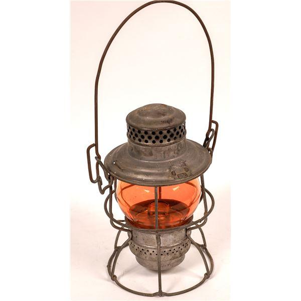 Adlake Conductor's Lantern from Utah Idaho Central RR Co., Orange Globe  [138572]