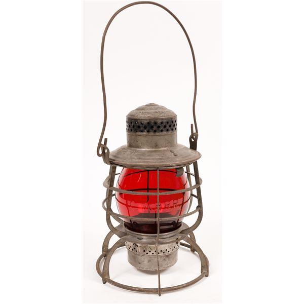Adlake Conductor's Lantern, Northern Pacific Railroad, Red Globe  [138578]